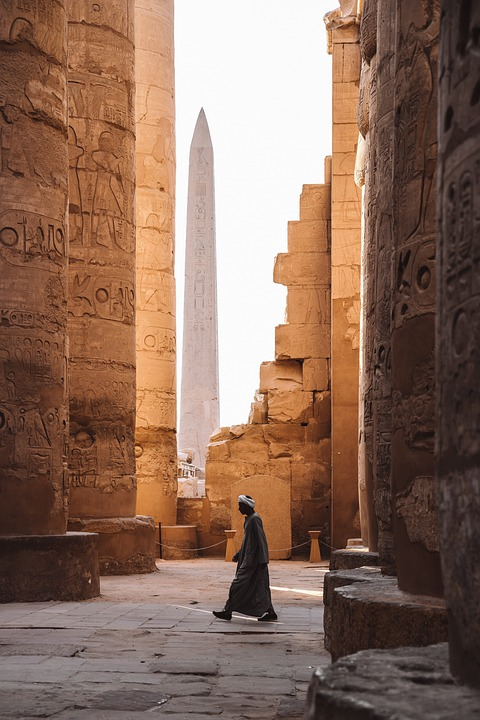 Person, Woman, Building, Walls, Temple, Sand, Sun