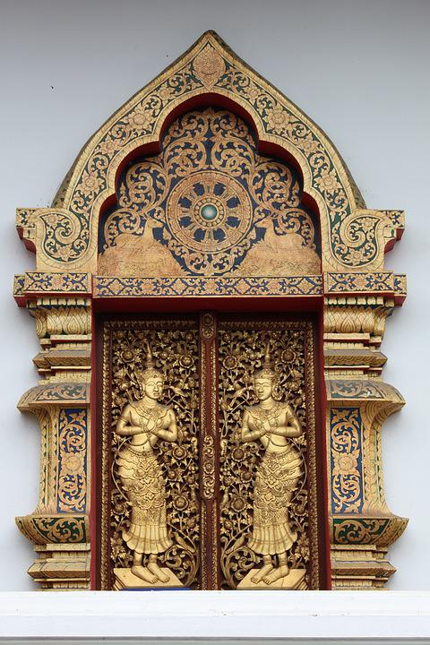 Window, Temple, Carve, Wood Carving