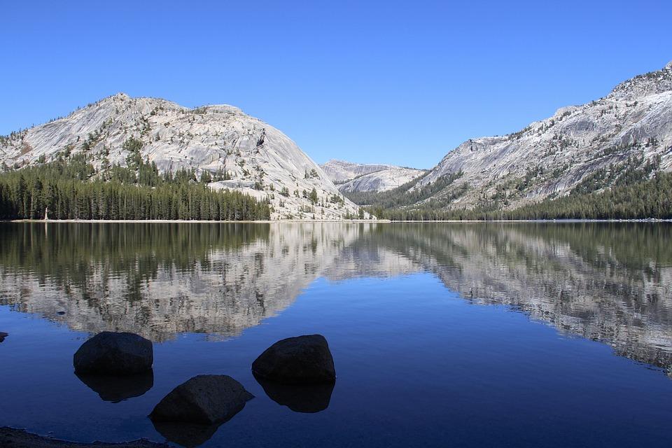 Tenaya Lake, Lake, Usa, West, Yosemite, Mirroring
