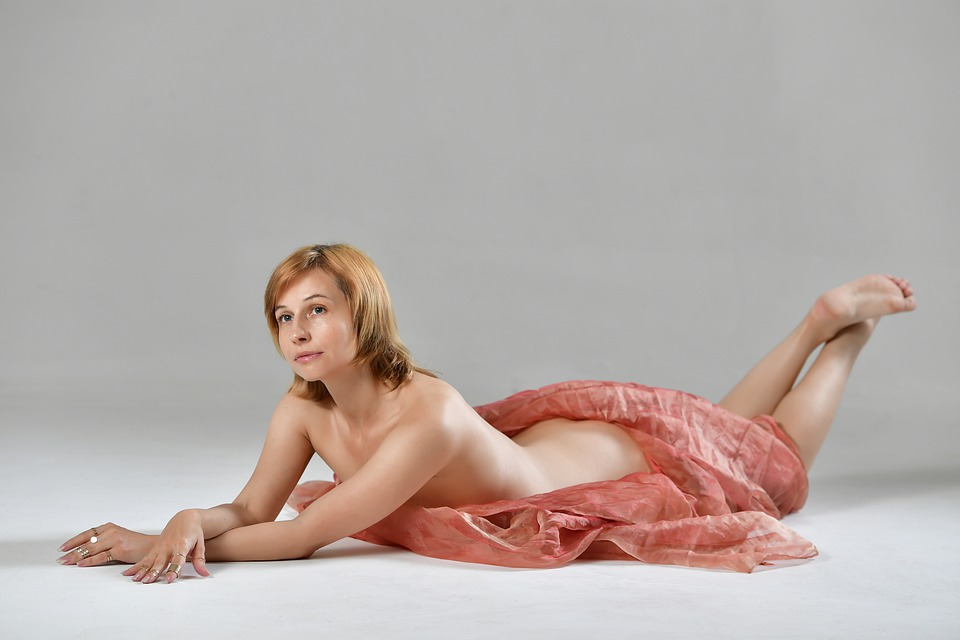 Nude, Fabric, Tenderness, Sensuality, Spin, Figure