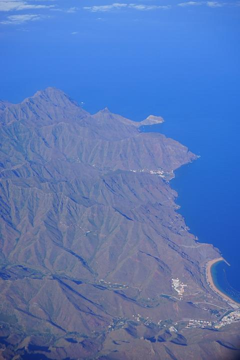 Tenerife, Aerial View, Island, Canary Islands, Fly