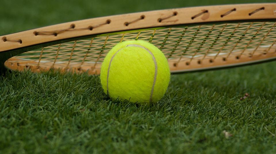 Tennis Ball, Racket, Tennis, Sport, Green