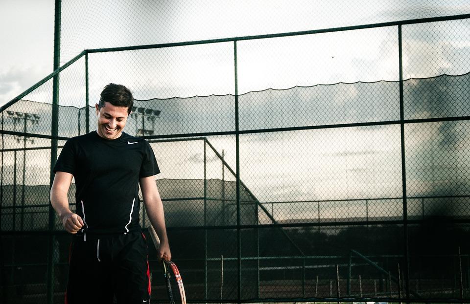 Man, Guy, Athlete, Tennis, Sport, Smile, Happy, Net