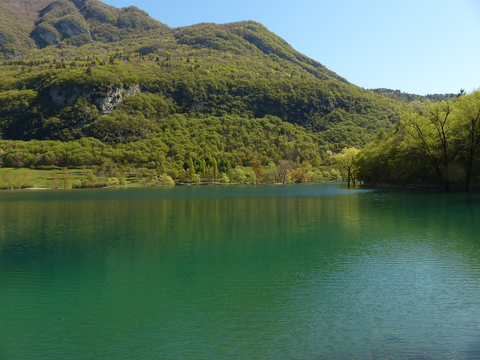 Tenno Lake, Lake, Waters, Italy, Landscape, Nature