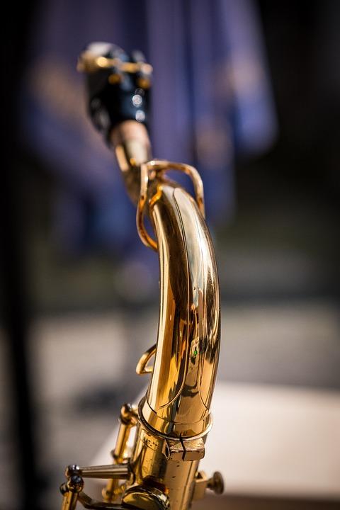 Saxophone, S-bow, Tenor, Golden, Gold, Music
