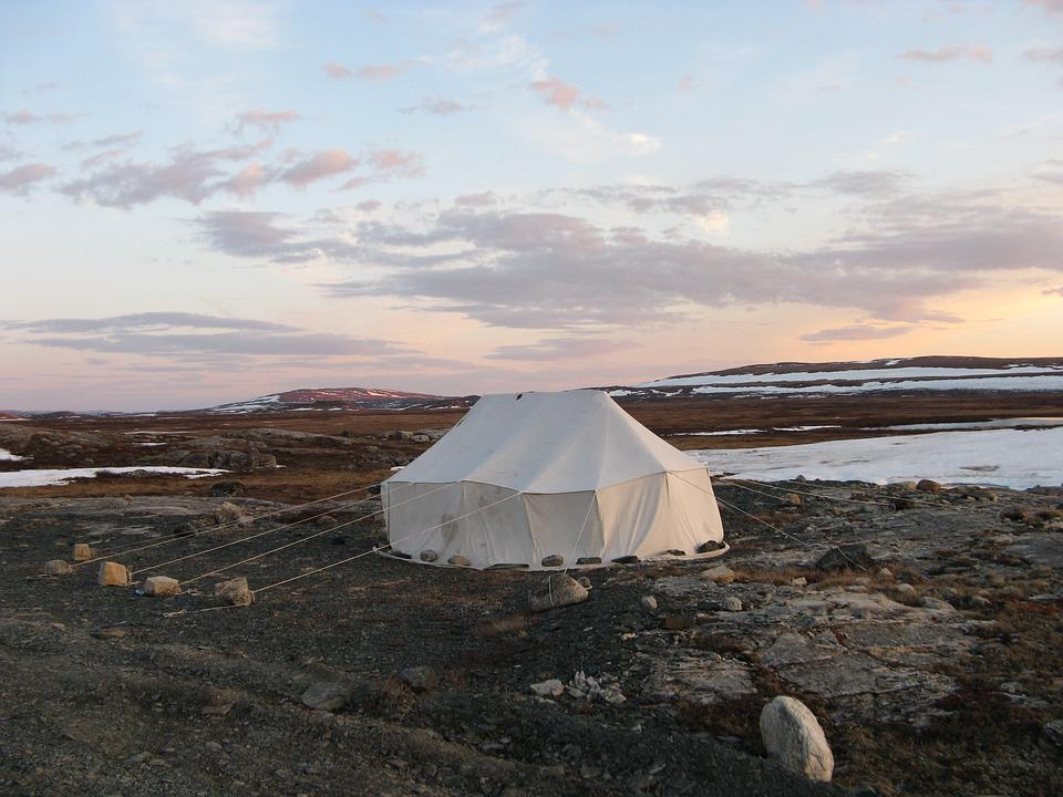 Tent, Inuit, Canvas, Traditional, Summer, Nunavik