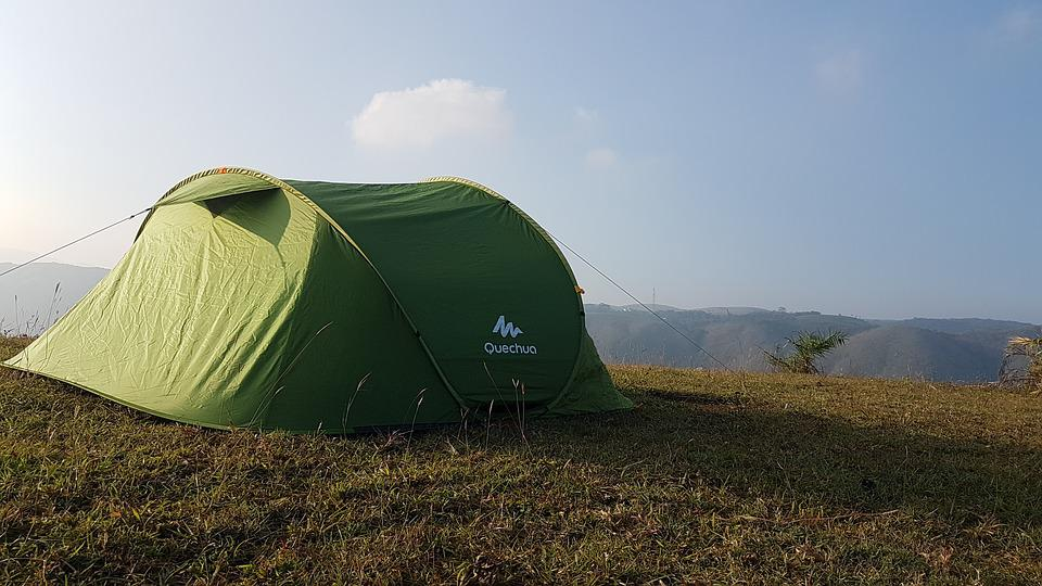 Tent, Mountain, Morning, Sky, Camping, Mountains