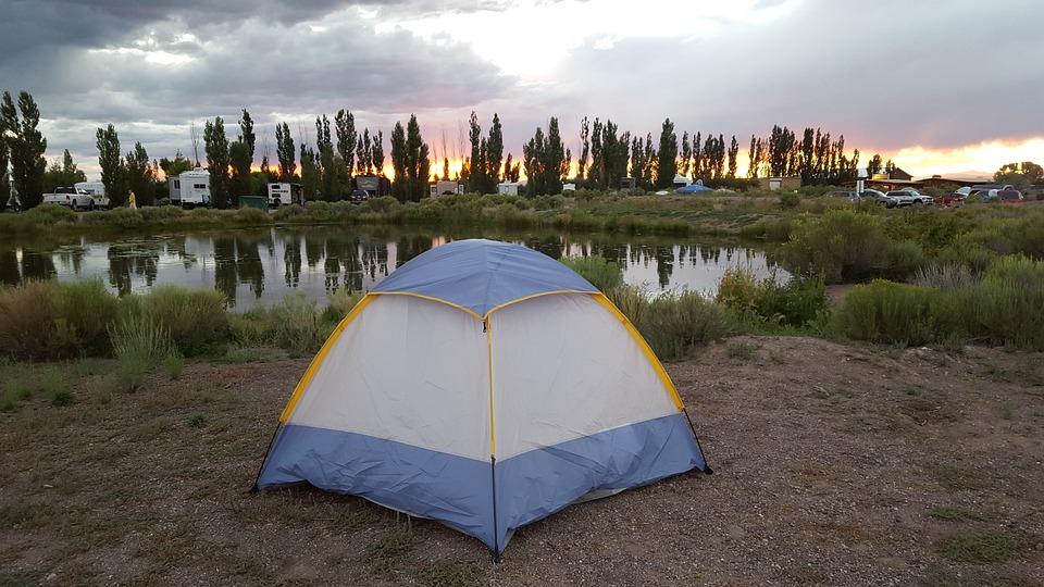 Tent, Sunset, Lake, Nature, Travel, Camp, Summer
