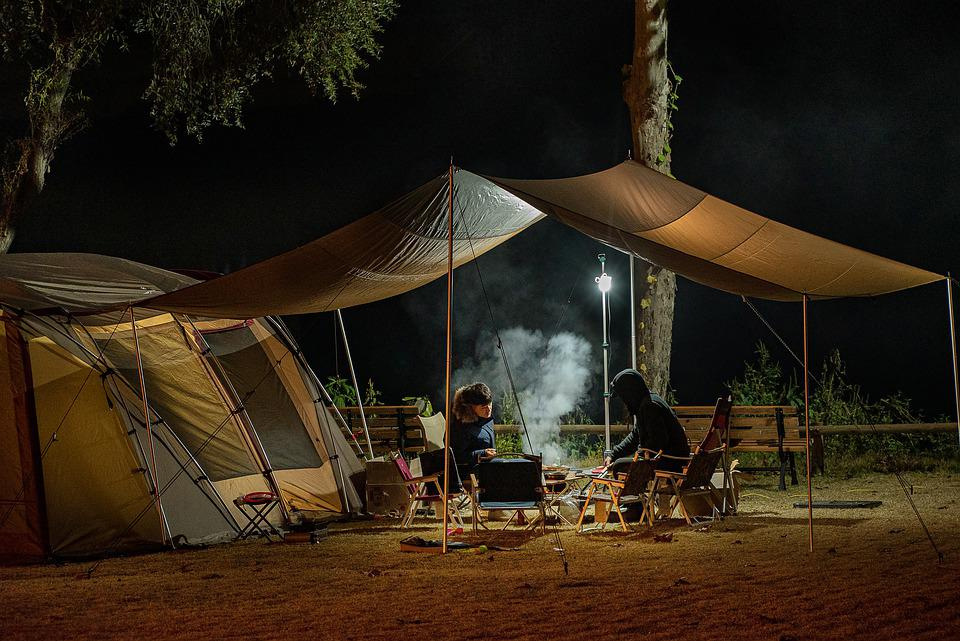 People, Camping, Tent, Lifestyle, Travel, Night, Friend