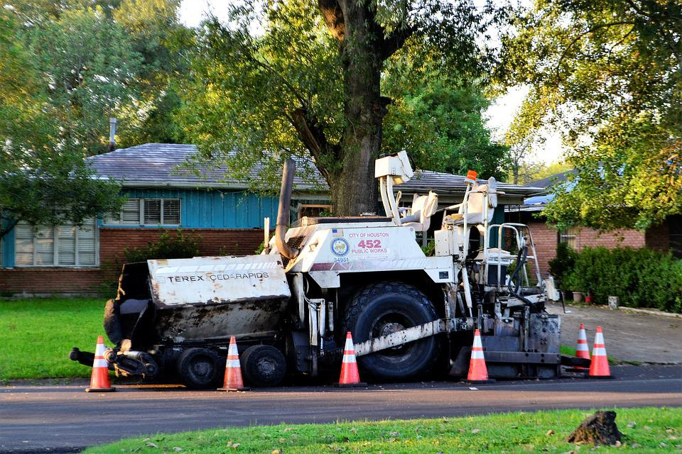 Road Paving Truck, Tar, Terex, Cedar Rapids, Houston