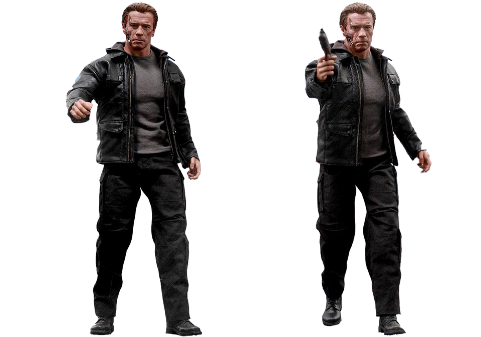 Figure, Terminator, Genisys T-800, Isolated