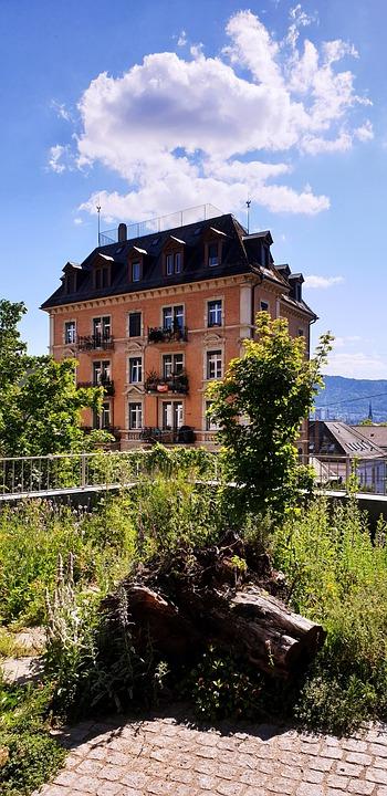 Building, Architecture, House, Zurich, Brick, Terrace