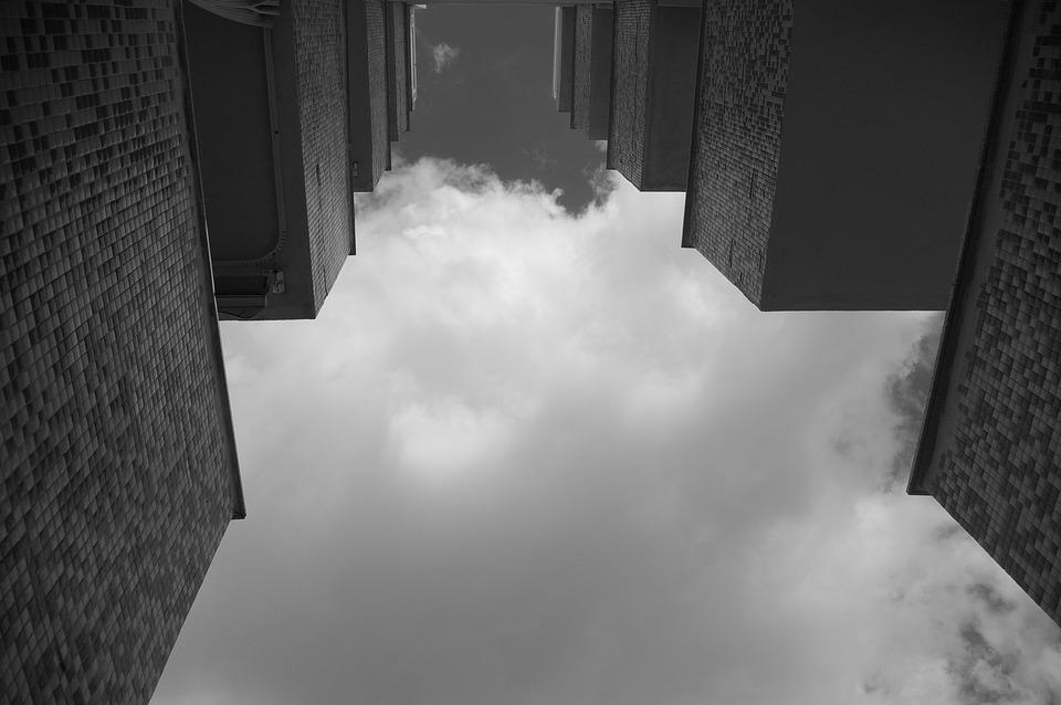 Terraces, Sky, Balconies, Housing, Residential, Look Up