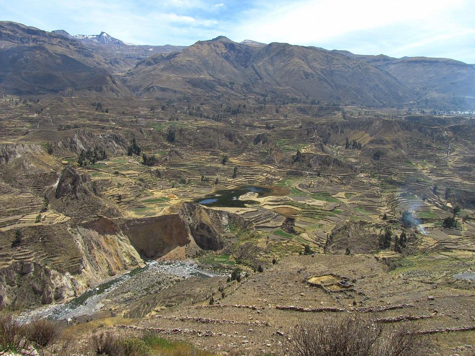 Valley, Canon, Terraces, Agriculture, Rural Landscape