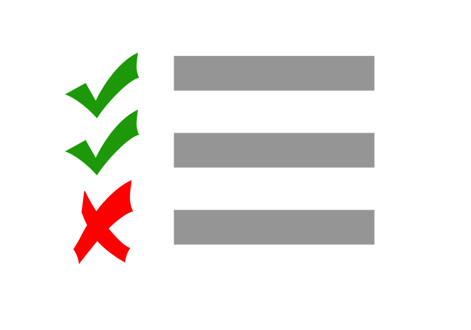 Checklist, Test, Check, Cross, Correct, Right, Wrong