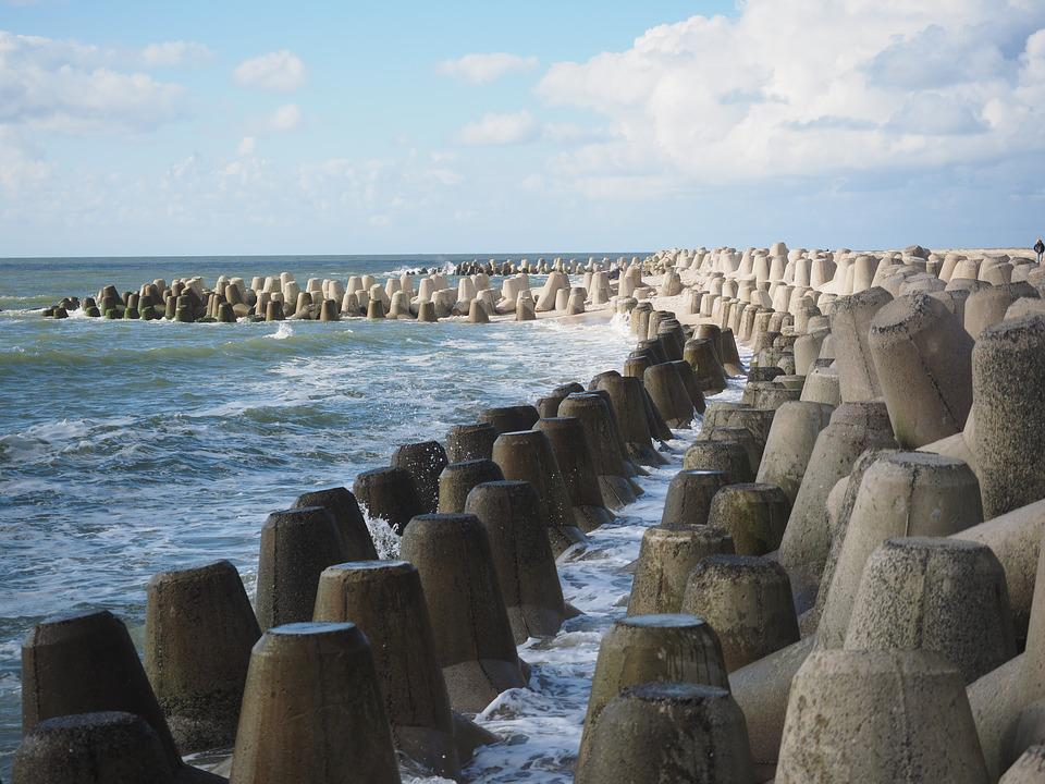 Tetrapods, Concrete Blocks, The Beach Fixing, Concrete