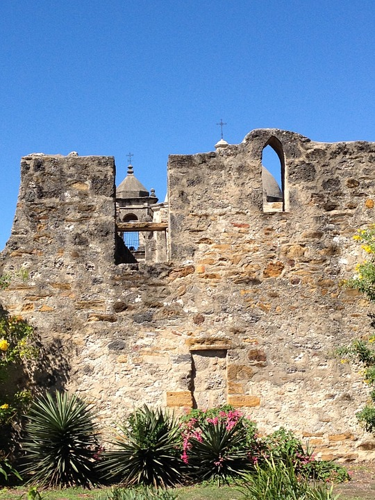 Texas, San Antonio, Historic Missions, Church