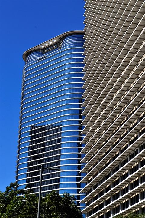 Office Buildings, Houston, Texas, Downtown, Usa