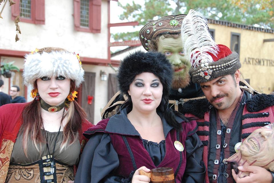Texas Renfest, Transylvania Court, Festival, People