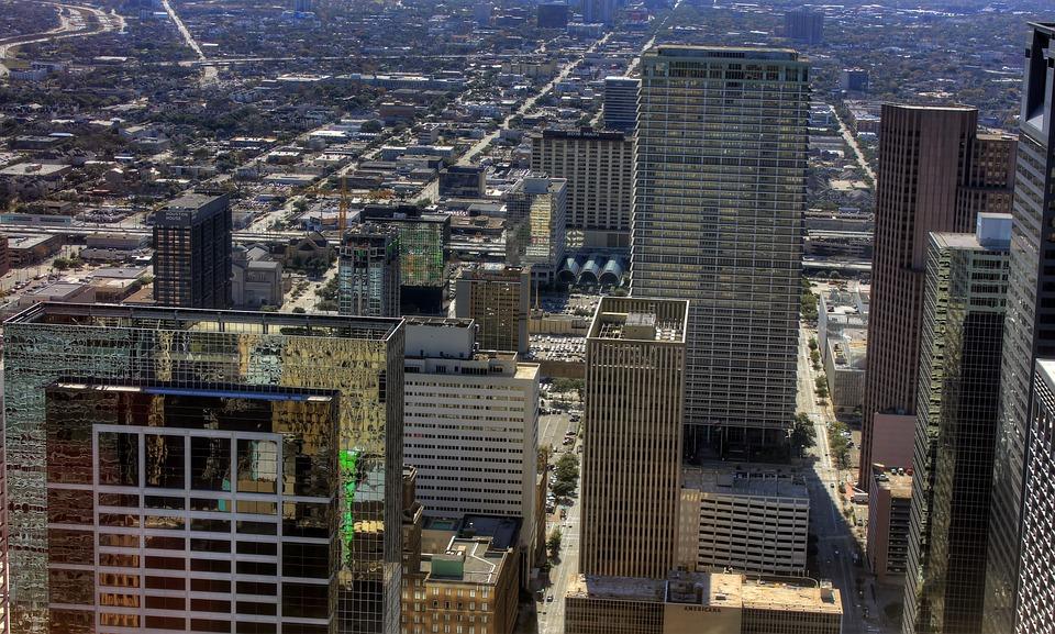Houston, Texas, Usa, Skyscraper, High Rise, Downtown