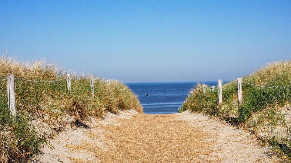 Beach Access, Texel, Dunes, Sea, Idyll