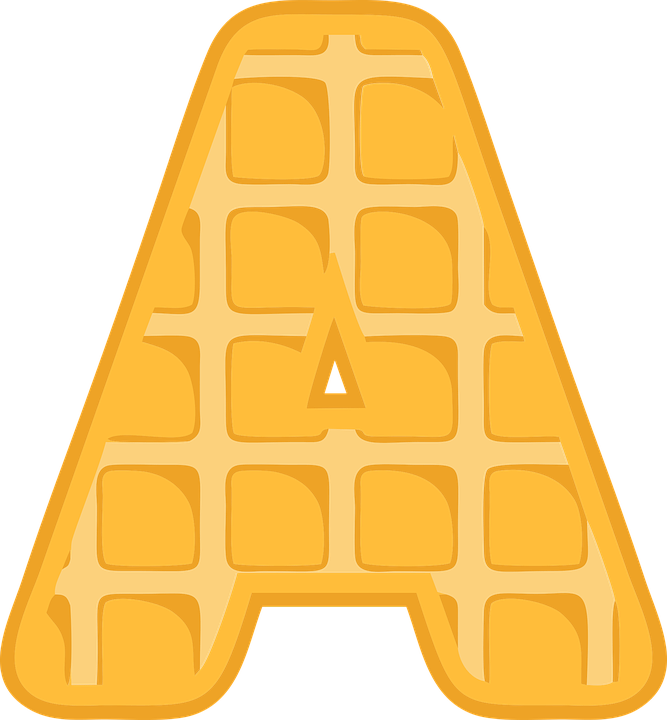 A, Alphabet, Waffle, Letter, Typography, Text, Font