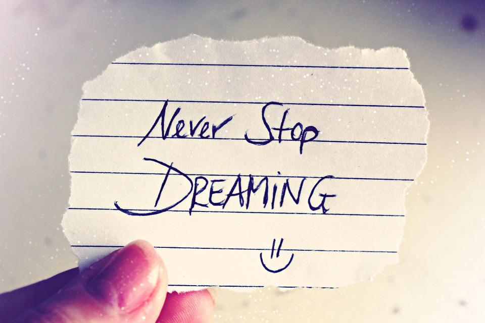 Free photo Text Decor Quote List Never Stop Dreaming Saying