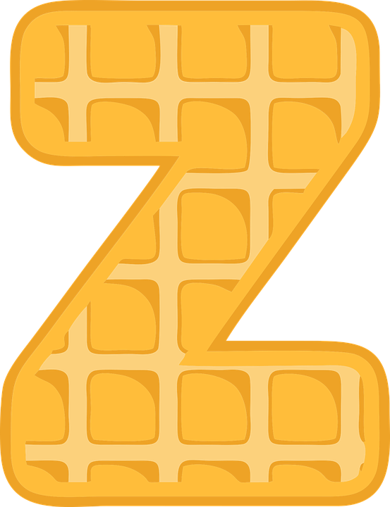 Z, Alphabet, Waffle, Letter, Typography, Text, Font