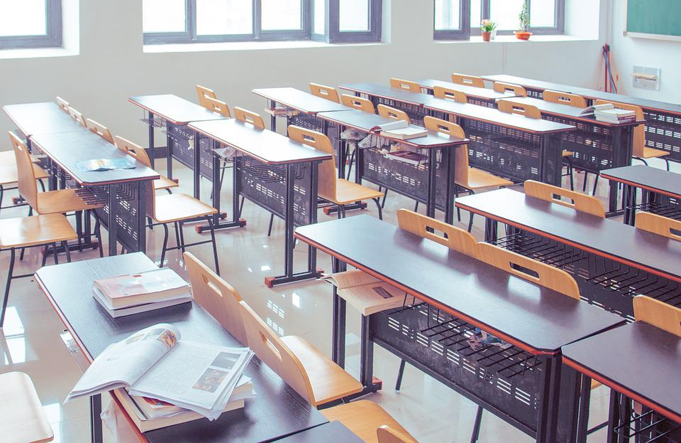 Free Photo Textbooks Desks Tables Classroom Guiyang Max