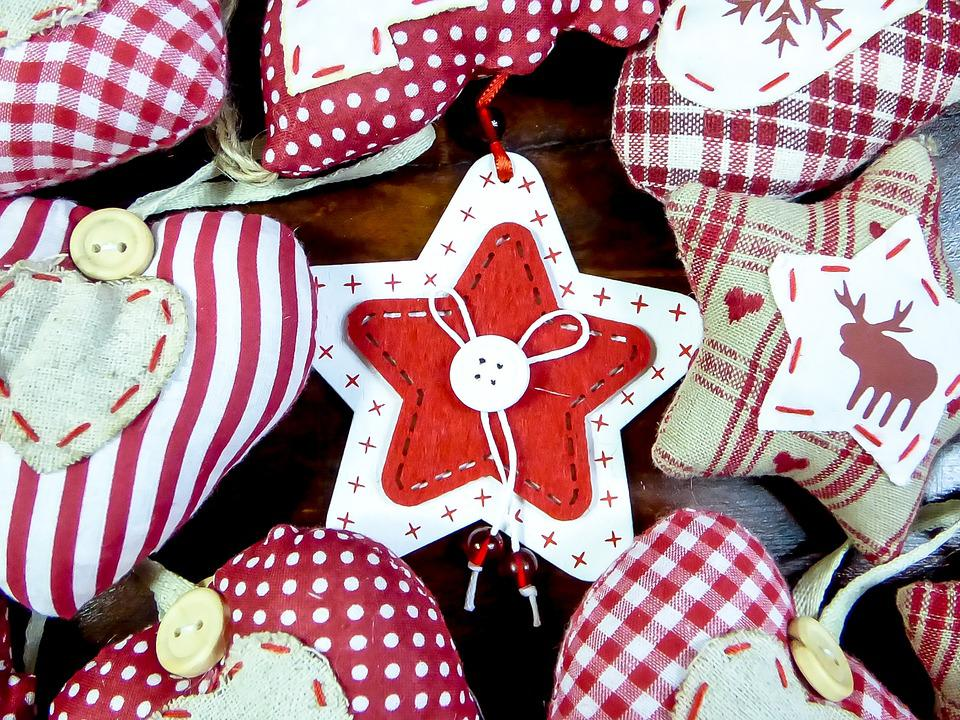 Christmas, Ornament, Textile Festival, Mood, Red