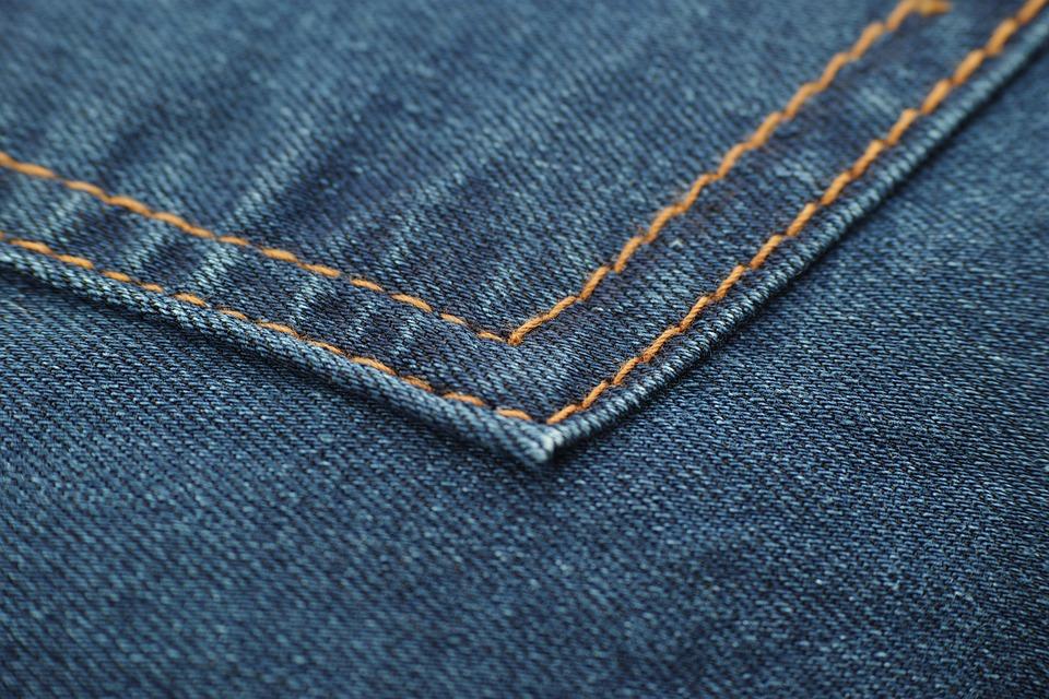Jeans, Fabric, Mobile, Horizontal, Textile, Macro