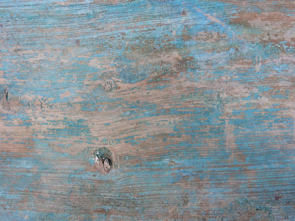 Background, Wood, Texture, Old, Worn, Blue Paint