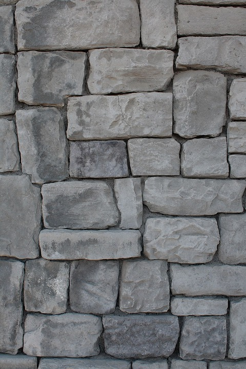 Stone, Wall, Grey, Bricks, Background, Texture
