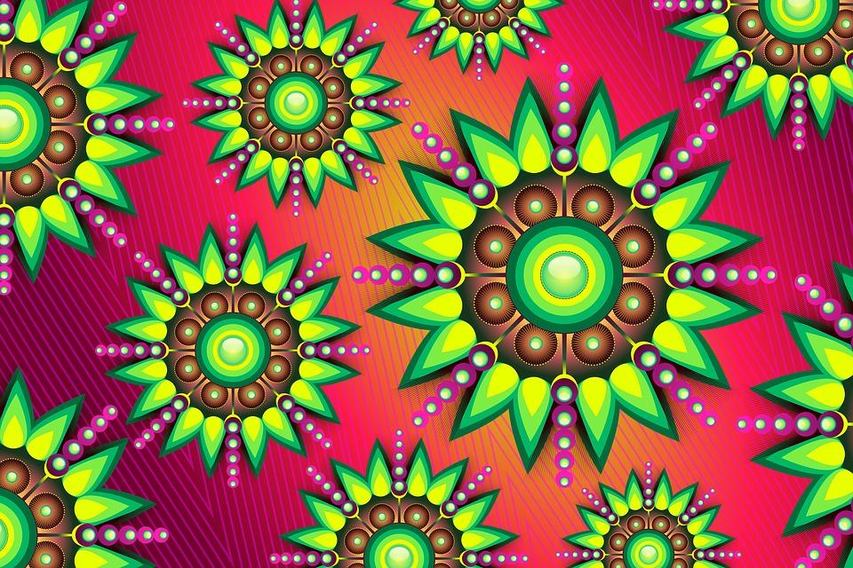 Background, Texture, Floral, Purple, Colorful