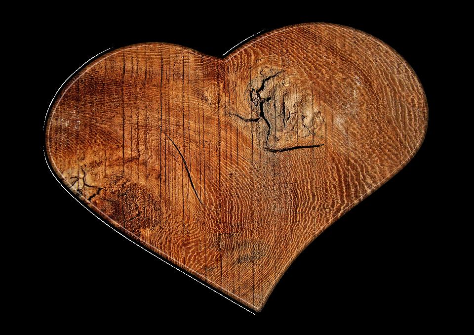 Heart, Love, Wood, Grain, Structure, Texture
