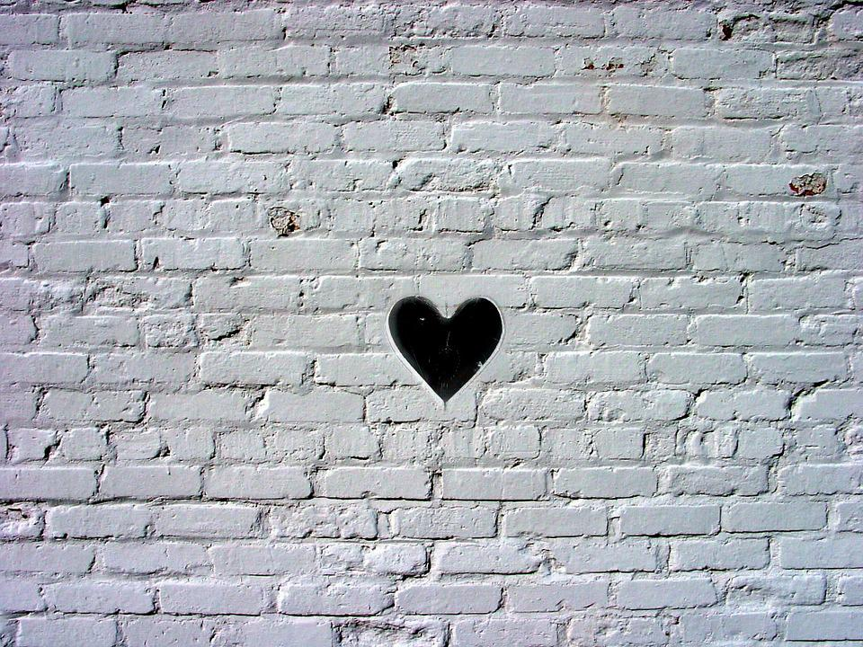 Background, Texture, Stone, Wall, Heart, Creative