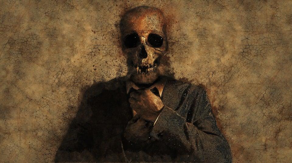 Man, Skull, Background, Texture, Death, Skeleton
