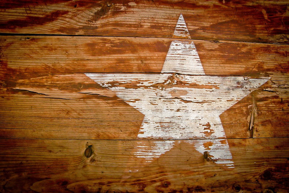 Wood, Grain, Star, Paint, Grained, Texture