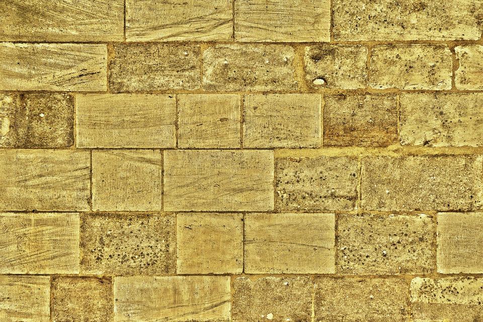 Sand Stone, Wall, Stone Wall, Bricked, Texture, Pattern