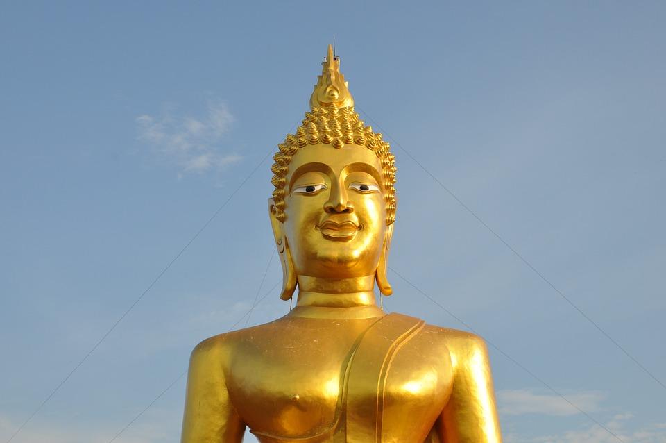 Buddha, Thailand, Sky, Temple, Thai, Buddhism, Religion
