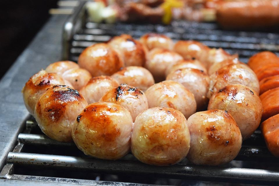 Sausage, Pork Sausage, Grilled, Thai Food, Barbeque