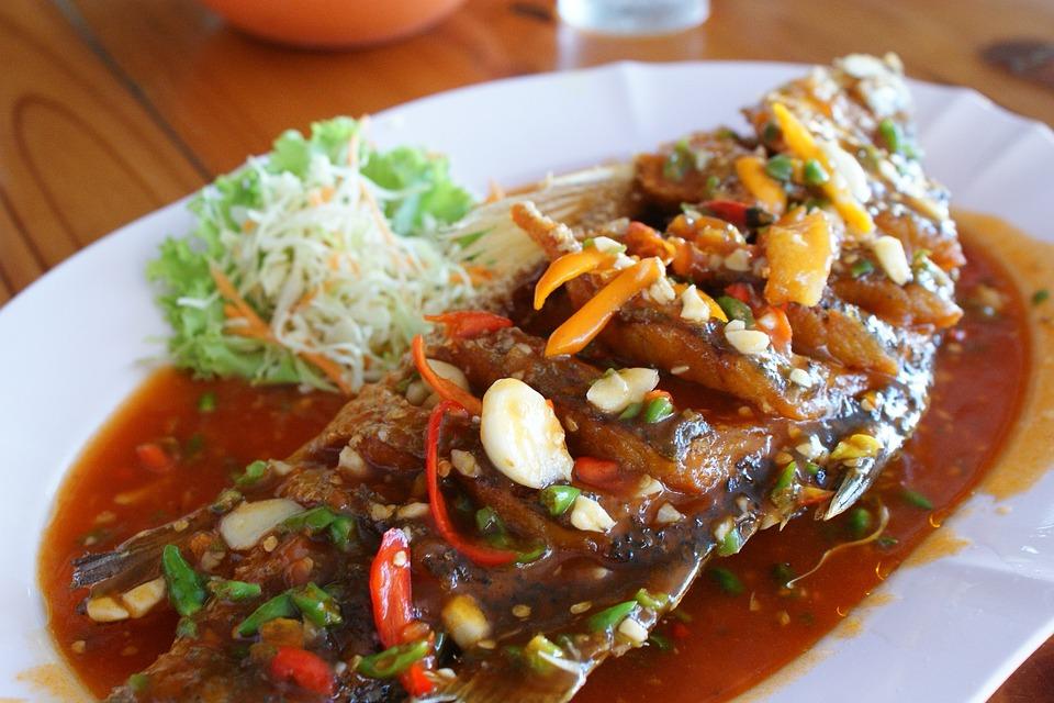 Thai Food, Fish In Chili, Sweet Sauce