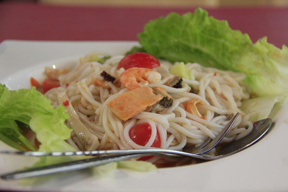 Gourmet, Seafood Noodles, Thai Noodles, Food, Asia