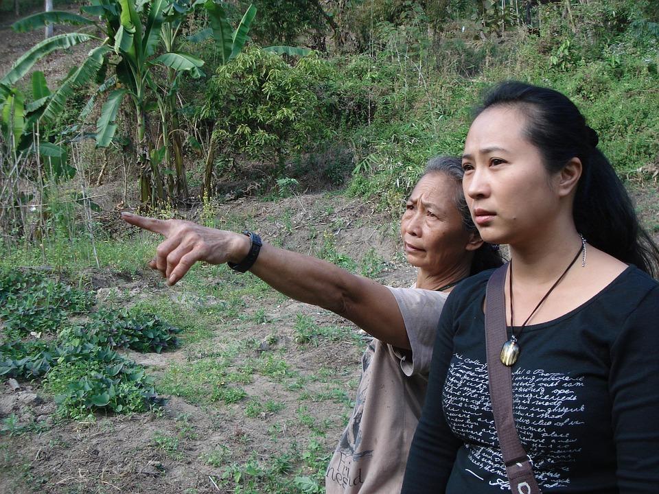 Pointing, Thai, Thai Women, Thailand