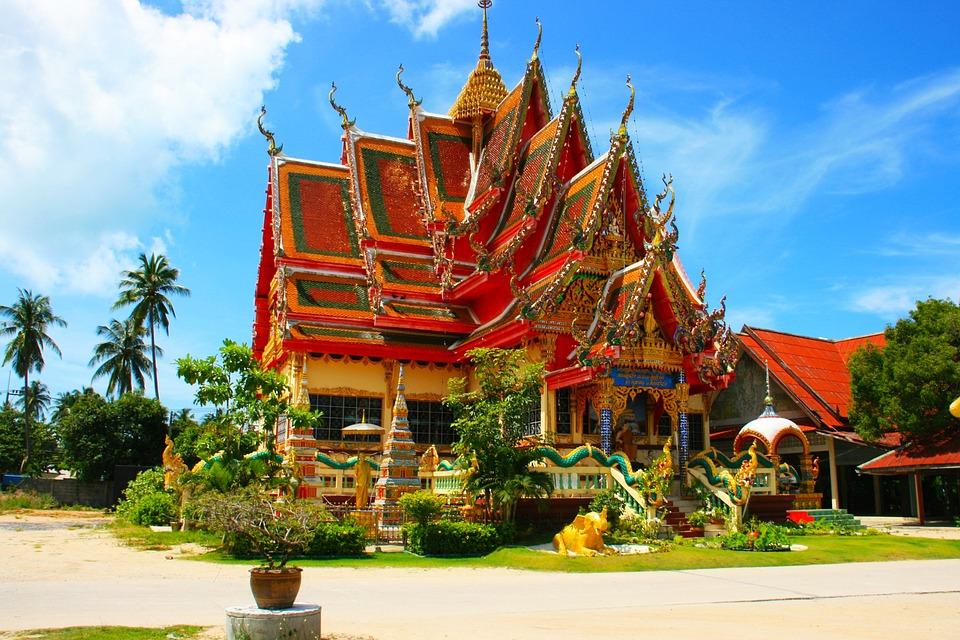 Thailand, Temple, Roof, Asia, Wat, Thai, Travel