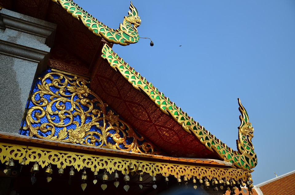 Thailand, Temple, Architectural Pattern