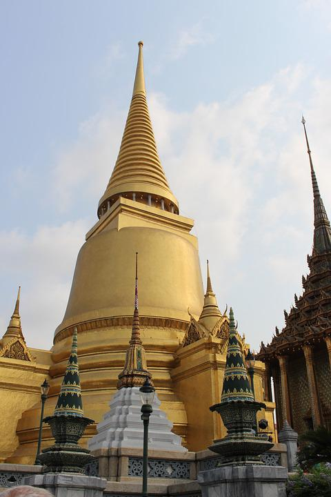 Thailand, Wat, Temple, Buddhism, Bangkok, Architecture