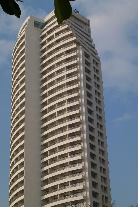 Hotel, High, Thailand, Building, Stone