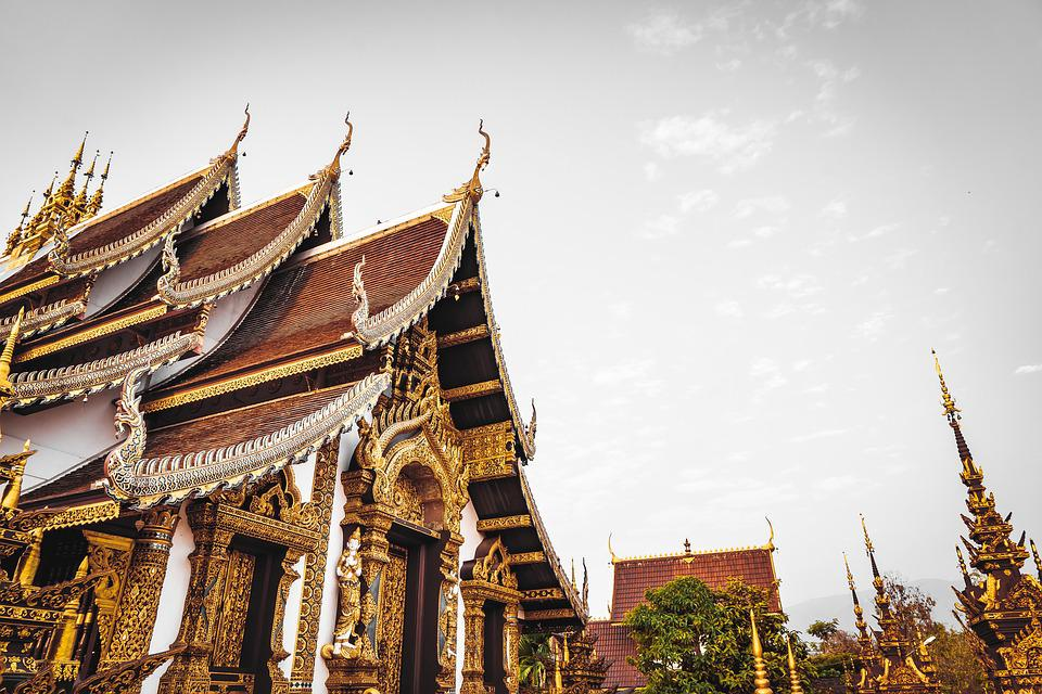 Temple, Thailand, Chiang, Old, Buddhism, Ancient, Stone