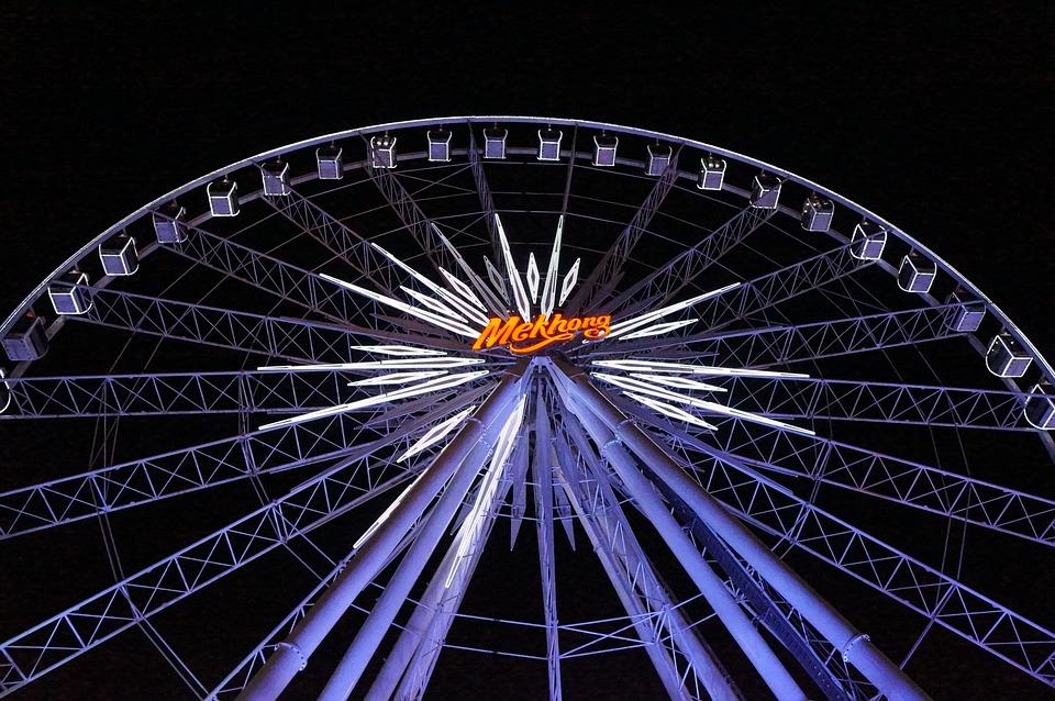 Ferris Wheel, Fire, Thailand